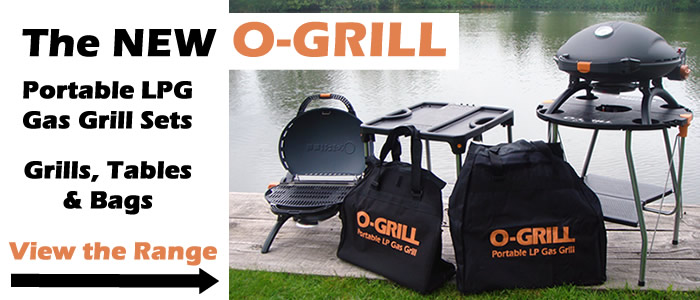 Welcome to the all new O-Grill portable LPG gas grill sets for alfresco dining by the water - view the range.