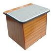 Mahogany Footstep Box - Grey Top