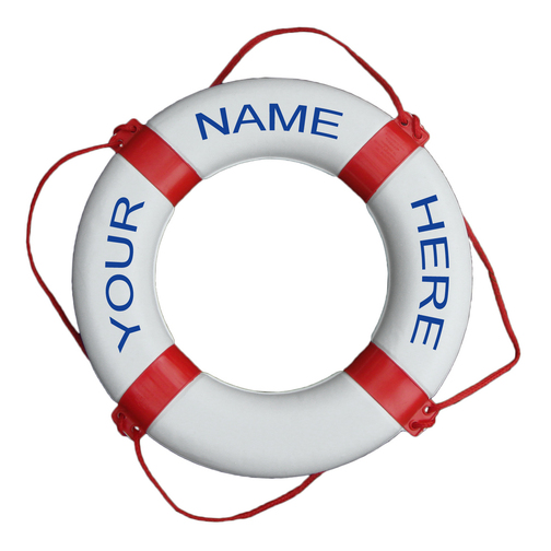 Personalised Classic Lifebuoy Ring Sheridan Marine