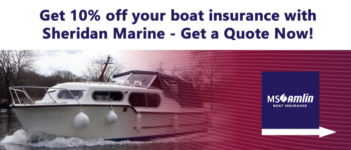 Get 10% off your boat insurance with Sheridan Marine. Get you quote now!