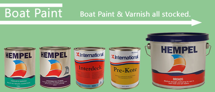 High quality marine paints and gloss varnish are all stocked for that fresh new coat!