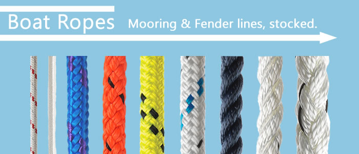 Selected the right boat mooring line pre-cut and pre-spliced or have us cut it from the reel!