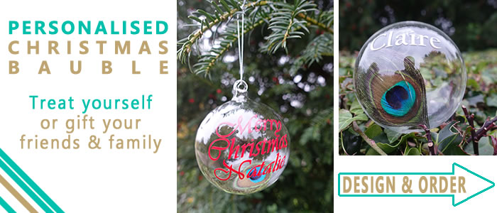 New to 2020, have a special message on this Christmas bauble to hang on your tree or gift friends and family.