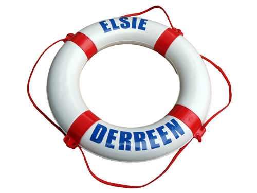 """Personalised Life Ring - """"Elsie / Derreen"""""""