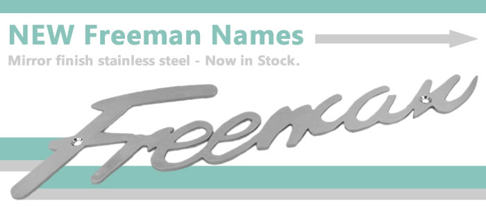 New mirror finish stainless steel Freeman Names here now!
