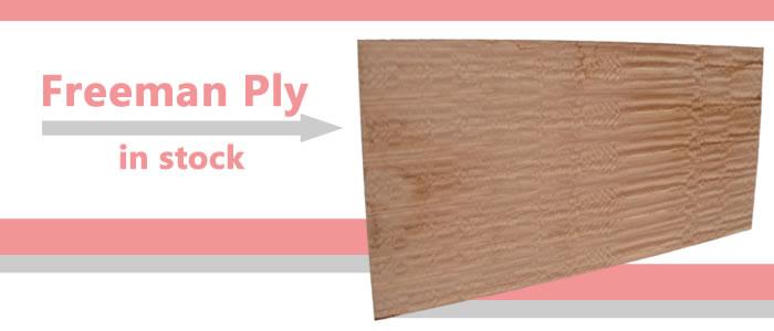 Freeman veneered plywood boards are now in stock.