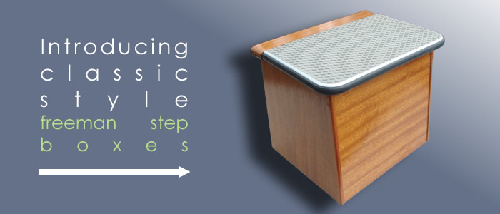 Hop in and out a little easier with the aid of a Freeman Step Box.