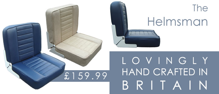 Get comfortable on board your boat with a new, lovingly crafted in Britain, helm seat.