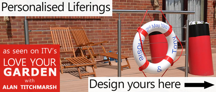 Get personal with your very own personalised classic lifebuoy rings.