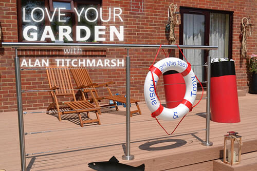 Personalised Lifebuoy as featured on Love Your Garden With Alan Titchmarsh