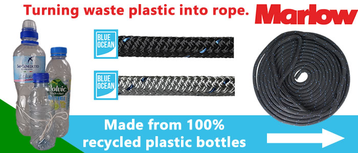 New recycled docklines made from 100% recycled plastic bottles.