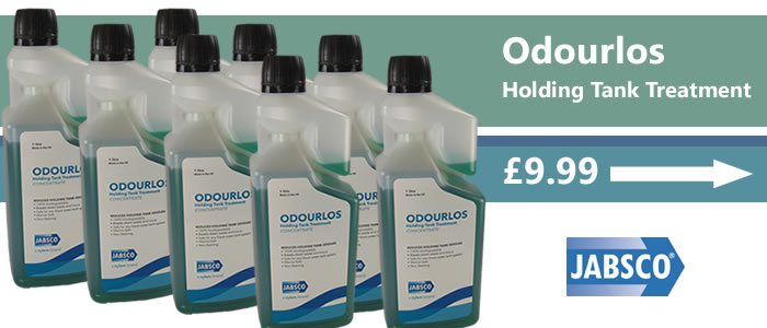 Jabsco Odourlos toilet holding tank treatment now only £9.99.