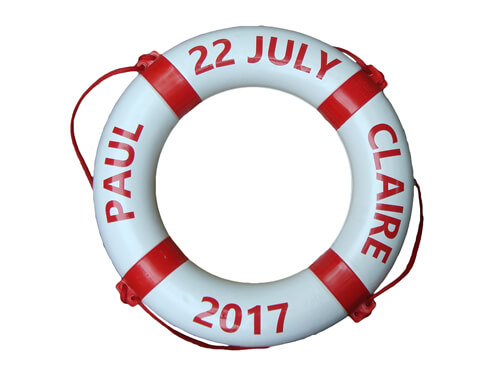 "Personalised Life Ring - ""Paul / Claire / 22 July / 2017"""