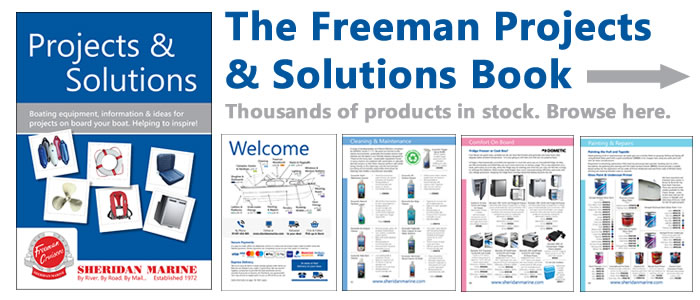 The Freeman Cruisers Projects & Solutions Book is here! 144 pages of boating equipment in full colour!