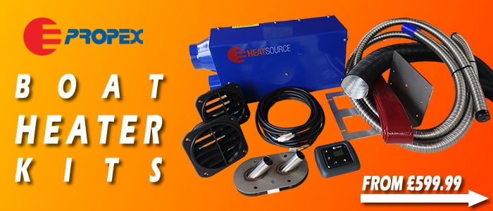 Propex boat heating systems in stock.