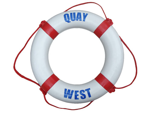 "Personalised Life Ring - ""Quay / West"""