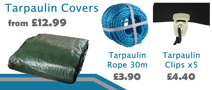 Keep the Autumn leaves off the boat with a simple tarpaulin boat cover.