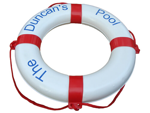 "Personalised Life Ring - ""The / Duncan's / Pool"""