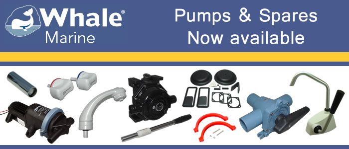We are currently launching our Whale Marine pumps and spare parts, check it out!