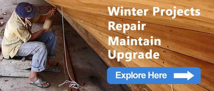 Repair, maintain and upgrade your boat during the winter months here.