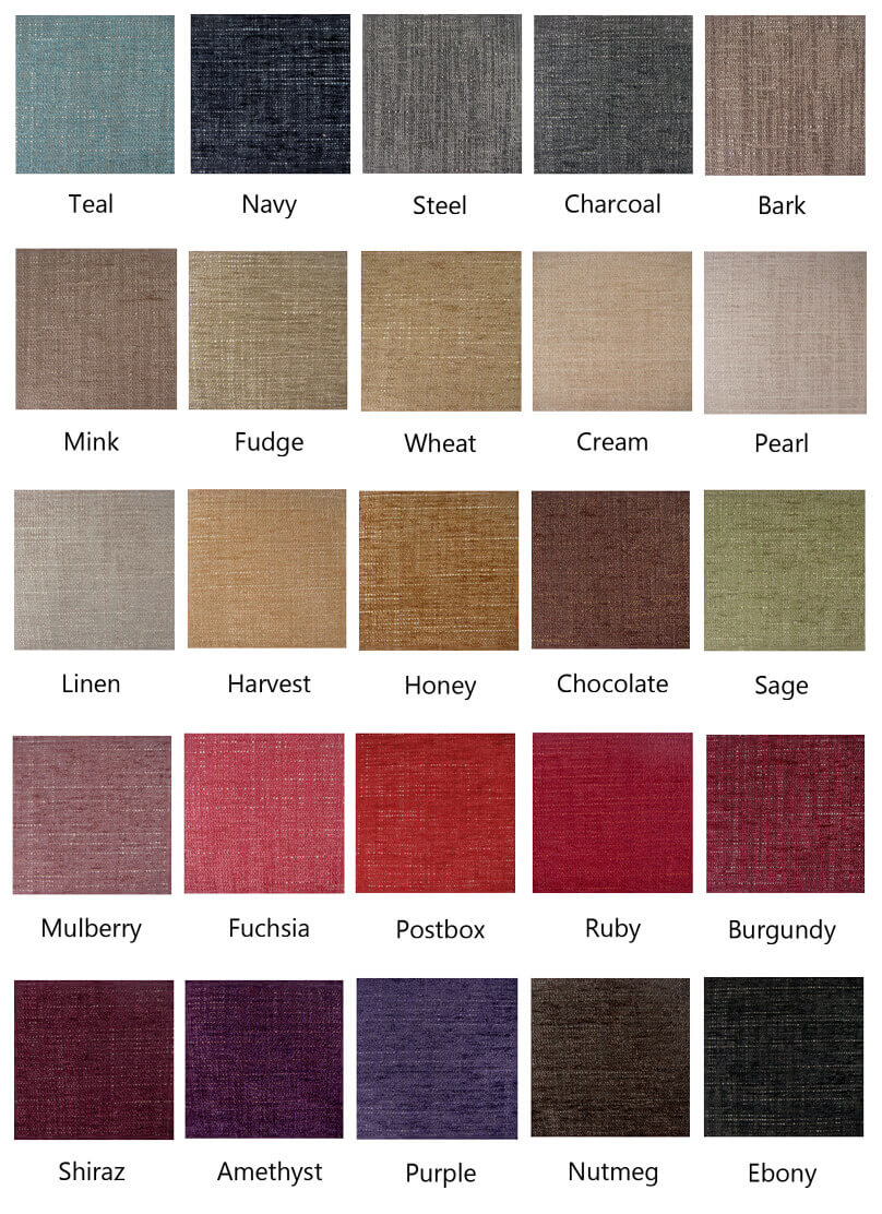 The Weave look - choose from 25 colours in this range.
