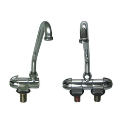 Compact Chrome Taps - Curved