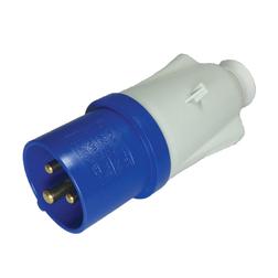 Mains 230V 3 Pin Plug - IP44 (Blue)