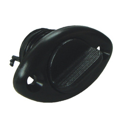 Bung Plastic Black - Oval