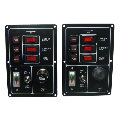 Fused Switch Panel With Battery Test Meter Sheridan Marine