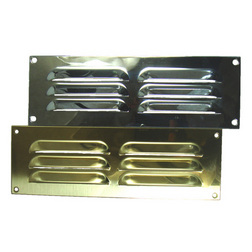 Brass Louvre Vent Grille - 228 x 71mm