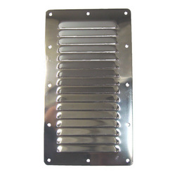Stainless Steel Louvre Vent Grille - 228 x 127mm
