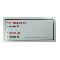 Location Label - Fire Extinguisher & First Aid Kit