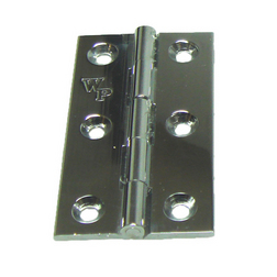 """Chrome Plated Solid Drawn Brass Hinges 51 x 29mm (2"""" x 1 1/8"""")"""