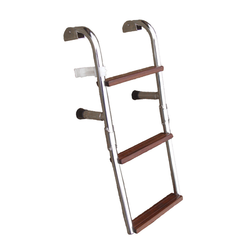 Compact Wooden Step Boarding Ladder Sheridan Marine