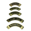 Curved Brass Deck Filler Name Plates