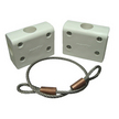 Outboard Motor Holder with Security Cable