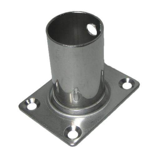 Stainless steel rectangle flagstaff sockets sheridan marine