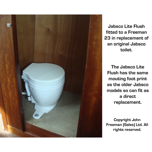 Jabsco Lite Flush Toilet With Foot Switch Sheridan Marine