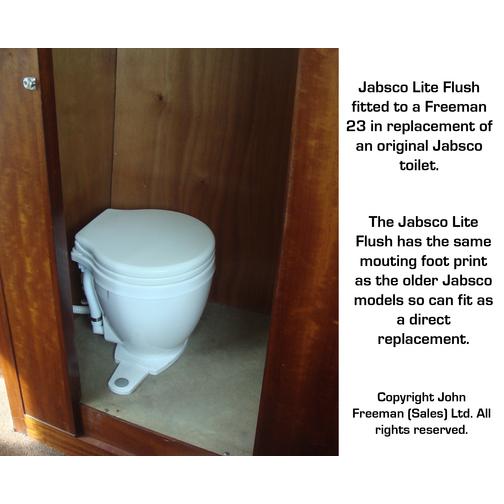jabsco lite flush toilet with foot switch sheridan marine. Black Bedroom Furniture Sets. Home Design Ideas