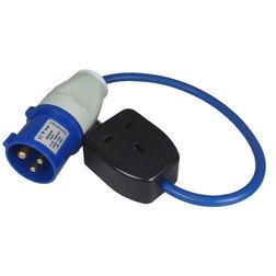Mains Trailing Socket Adapter - IP44 (Blue)