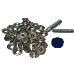 Stainless Steel Push Button Popper Kit - Material Fitting