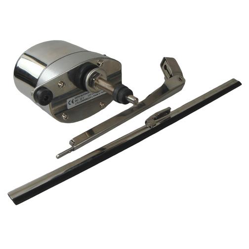 New 12V Windscreen Wiper Set//Kit Stainless steel Wiper Motor Wiper Blade /& Arm