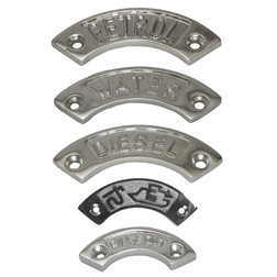 Curved Chrome Deck Filler Name Plates
