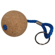 Floating Cork Ball Keyring with Blue Rope