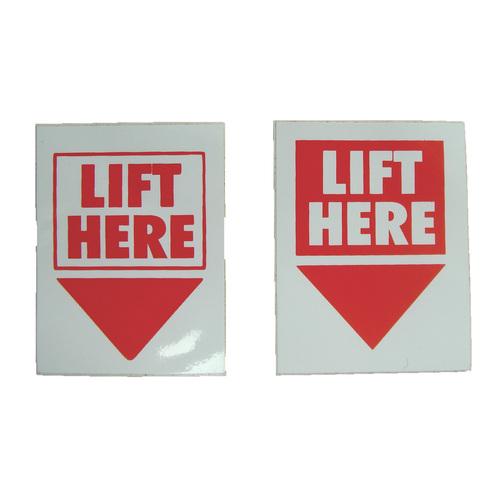 Fork Lift Labels : Lift here labels sheridan marine