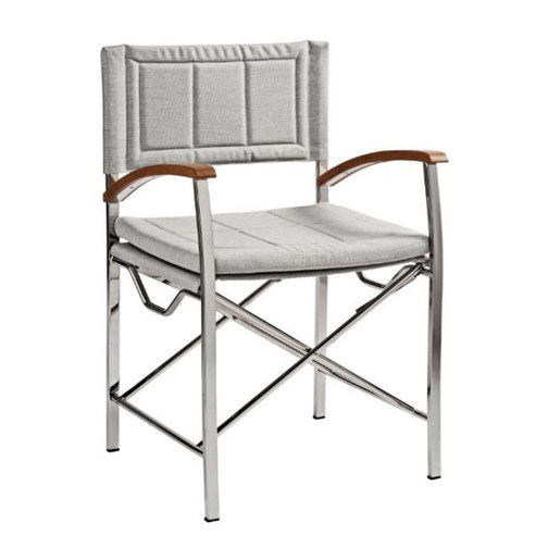 stainless steel deluxe folding directors chair sheridan marine