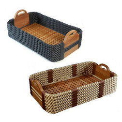 Teak Shoe Baskets