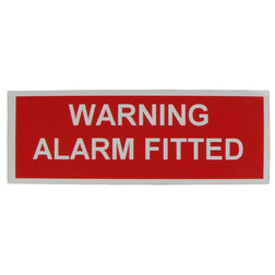 Warning Alarm Fitted Label