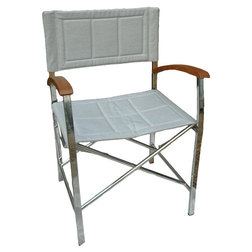 Stainless Steel Deluxe Folding Directors Chair