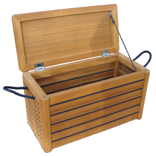 Superieur ... Teak Storage Trunk With Blue Rope ...
